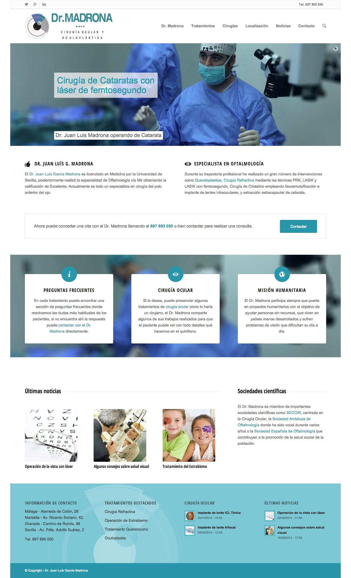 Web del Doctor Juan Luís García Madrona