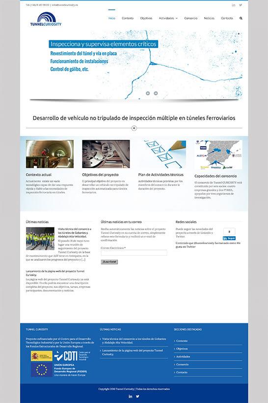 Web de Tunnel CURIOSITY